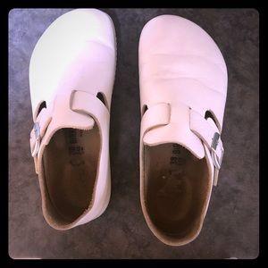 White Birkenstock shoes